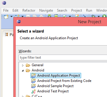 Eclipse - Nowy projekt Android